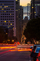 California Street & Bay Bridge, Downtown SF