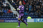 Rotherham United Goalkeeper Lee Camp celebrates during the Sky Bet Championship match between Preston North End and Rotherham United at Deepdale, Preston, England on 2 January 2016. Photo by Pete Burns.
