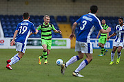 Forest Green Rovers Marcus Kelly(10) runs forward during the FA Trophy 2nd round match between Chester FC and Forest Green Rovers at the Deva Stadium, Chester, United Kingdom on 14 January 2017. Photo by Shane Healey.