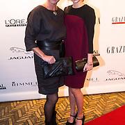 NLD/Amsterdam/20130923 - Grazia Red Carpet Awards 2013, Pip Pellens en haar moeder