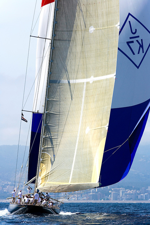 "Valencia/Spain/THE SUPERYACHT CUP PALMA 2007/17JUN07. J class yacht ""Velsheda"" under spinnaker"