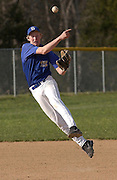 Kyle Leslie of Seckman in a game against Northwest. Seckman won 7-2.