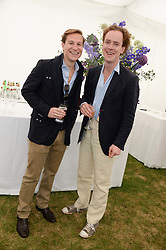Left to right, DAVE CLARK and TOM INSKIP at the 2013 Cartier Queens Cup Polo at Guards Polo Club, Berkshire on 16th June 2013.
