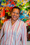 Mature black woman potrait, taken at African American Museum during Portrait Day, an event by Long Island Center of Photography, at Hempstead, New York, USA, on September 17, 2011.