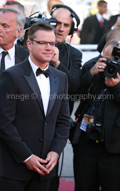 Actor Matt Damon at the 'Behind The Candelabra' gala screening at the Cannes Film Festival  Tuesday 21 May 2013