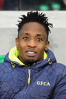 John Tshibumbu - 17.10.2015 - Saint Etienne / Gazelec Ajaccio - 10eme journee de Ligue1<br /> Photo : Jean Paul Thomas / Icon Sport