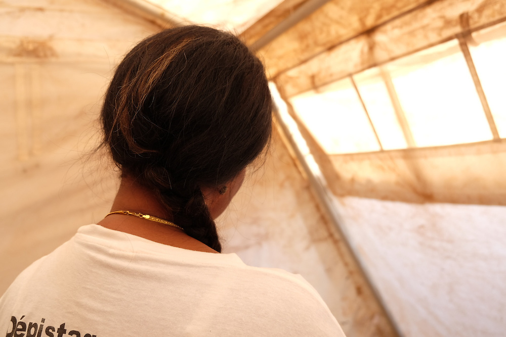 HIV activist Aissata Tour&eacute; at the MSF mobile clinic in the neighbourhood of Tombolia, Conakry, Guinea on March 18, 2016. MSF launched a HIV testing campaign in Conakry with the support of health authorities moving throughout several neighbourhoods throughout 2016.<br /> <br /> &quot;I learnt (I had HIV) through my husband, it was him that fell sick from AIDS. One day I asked a friend who told me &lsquo;Aissata you have to do your HIV test&rsquo;. The next morning I went have my test. It was one month later I told my friend I had been tested but did not have the results. She told me to go and get them and I went that same day to take my results. When I had my results I asked if I could have children. The day he (husband) had his results he almost run away. I caught him and I asked him &lsquo;what is it?&rsquo;. He didn&rsquo;t say anything. My advice for people is to be courageous, come to the hospital and do their test, it&rsquo;s very important.&quot;<br /> <br /> Despite countries in West and Central Africa having a relatively low HIV prevalence (