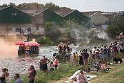 Lewes Regatta, Ouseday Raft Race  from Lewes to Newhaven Marina. Eggs and flour bombs are thrown at the competing rafts but fireworks are banned.  1 July 2018