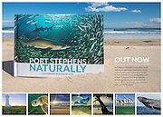 Port Stephens Naturally is a new release book featuring the spectacular underwater, nature and landscape images as portrayed through the lens of award-winning photographer Justin Gilligan. Comprised of striking single and double page spreads, this diminutive book (22cm x 16cm) captures the expansive beauty of this spectacular region.<br />
