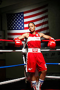 6/24/11 2:32:46 PM -- Colorado Springs, CO. -- A portrait of U.S. Olympic lightweight boxer Queen Underwood, 27, of Seattle, Wash. who will be competing for her fifth title. She began boxing in 2003 and was the 2009 Continental Champion and the 2010 USA Boxing National Champion. She is considered a likely favorite to medal at the 2012 Summer Olympics in London as women's boxing makes its debut as an Olympic sport. -- ...Photo by Marc Piscotty, Freelance.