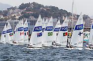2016 Olympic Sailing Games-Rio-Brazil, ANP Copyright Olympische Spelen Zeilen, ls-AUS- Tom Burton- Laser Standaard, ls-FIN- Kaarle Tapper- Laser Standaard
