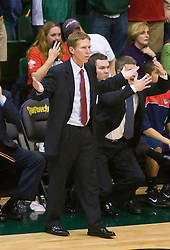 January 30, 2010; San Francisco, CA, USA;  Gonzaga Bulldogs head coach Mark Few reacts during overtime against the San Francisco Dons at the War Memorial Gym.  San Francisco defeated Gonzaga 81-77 in overtime.