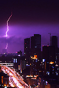 NANJING, CHINA - SEPTEMBER 28: (CHINA OUT) <br /> <br /> Lightning strikes over sky on September 28, 2014 in Nanjing, Jiangsu province of China. A thunderstorm hits Nanjing on Sunday.<br /> ©Exclusivepix