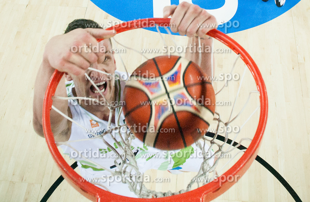 Alen Omic of Slovenia during basketball match between Slovenia and Macedonia at Day 6 in Group C of FIBA Europe Eurobasket 2015, on September 10, 2015, in Arena Zagreb, Croatia. Photo by Vid Ponikvar / Sportida