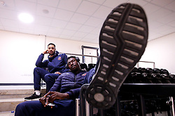 Daniel Edozie of Bristol Flyers arrives at the Eagles Community Arena, for the BBL fixture against Newcastle Eagles - Photo mandatory by-line: Robbie Stephenson/JMP - 01/03/2019 - BASKETBALL - Eagles Community Arena - Newcastle upon Tyne, England - Newcastle Eagles v Bristol Flyers - British Basketball League Championship