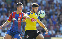 Football - 2018 / 2019 Premier League - Crystal Palace vs. Southampton<br /> <br /> Shane Long of Southampton and Martin Kelly of Palace, at Selhurst Park.<br /> <br /> COLORSPORT/ANDREW COWIE