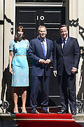 © Licensed to London News Pictures. 24/07/2012. Westminster, UK The British Prime Minister David Cameron hosts a lunch today 24th July 2012 at Downing Street for HM The Queen and the Duke of Edinburgh with the Deputy Prime Minister and past Prime Ministers, Sir John Major, Tony Blair and Gordon Brown. Photo credit : Stephen Simpson/LNP