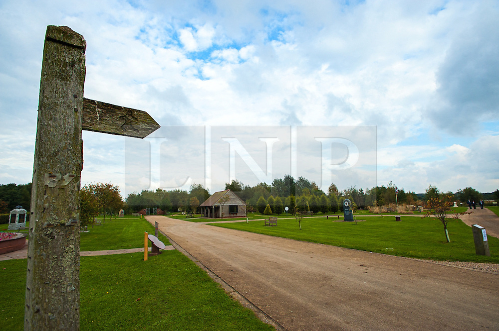 © Licensed to London News Pictures. 17/10/2016. Alrewas  Staffordshire England  <br /> The Arboretum is a unique haven of peace, contemplation and hope for the future. It consists of 150 acres of wooded parkland within the National Forest in Staffordshire where visitors can both enjoy and learn about the trees and their surroundings, and reflect upon their special symbolism.<br /> Photo Credit:Rob Leyland/LNP