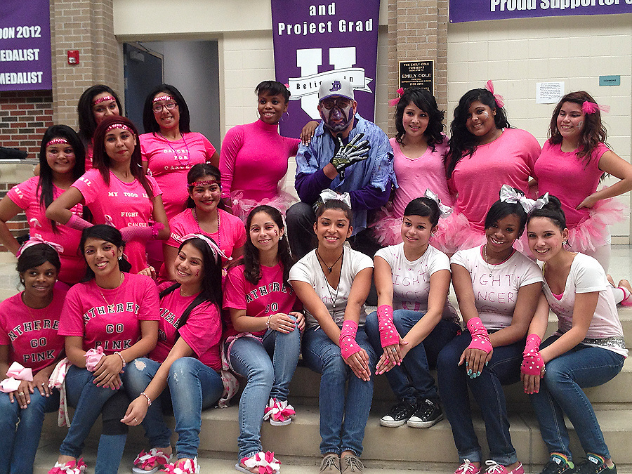 A ghoulish-looking Davis High School Principal Jaime Castaneda strikes a pose with his students at Davis High School as they prepared for early voting events.<br /> To submit photos for inclusion in eNews, send them to hisdphotos@yahoo.com.