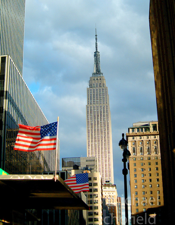 The Empire State Building..Images of the city of New York, United States of America, taken between 20th-22nd November, 2001..©Michael Schofield.