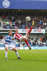 March 9, 2019 - London, England, United Kingdom - Stoke City's James McClean clears the ball during the second half of the Sky Bet Championship match between Queens Park Rangers and Stoke City at Loftus Road Stadium, London on Saturday 9th March 2019. (Credit Image: © Mi News/NurPhoto via ZUMA Press)