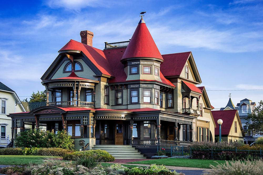 Corbin-Norton house, Ocean Avenue,  Oak Bluffs, Martha's Vineyard, Massachusetts, USA