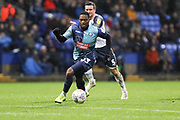 Wycombe Wanderers midfielder Fred Onyedinma in action  during the EFL Sky Bet League 1 match between Bolton Wanderers and Wycombe Wanderers at the University of  Bolton Stadium, Bolton, England on 15 February 2020.