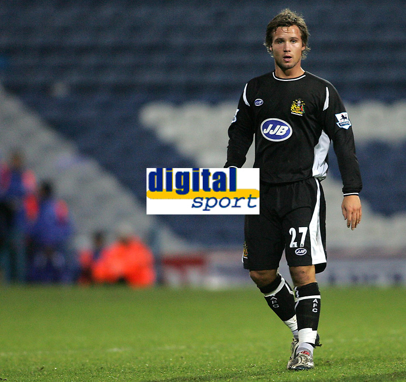 Photo: Lee Earle.<br /> Portsmouth v Wigan Athletic. The FA Cup. 06/01/2007. Wigan's new signing Kristoff Haestad.