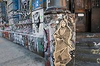 Graffiti art in the Bowery (190 the Bowery) Manhaten NYC