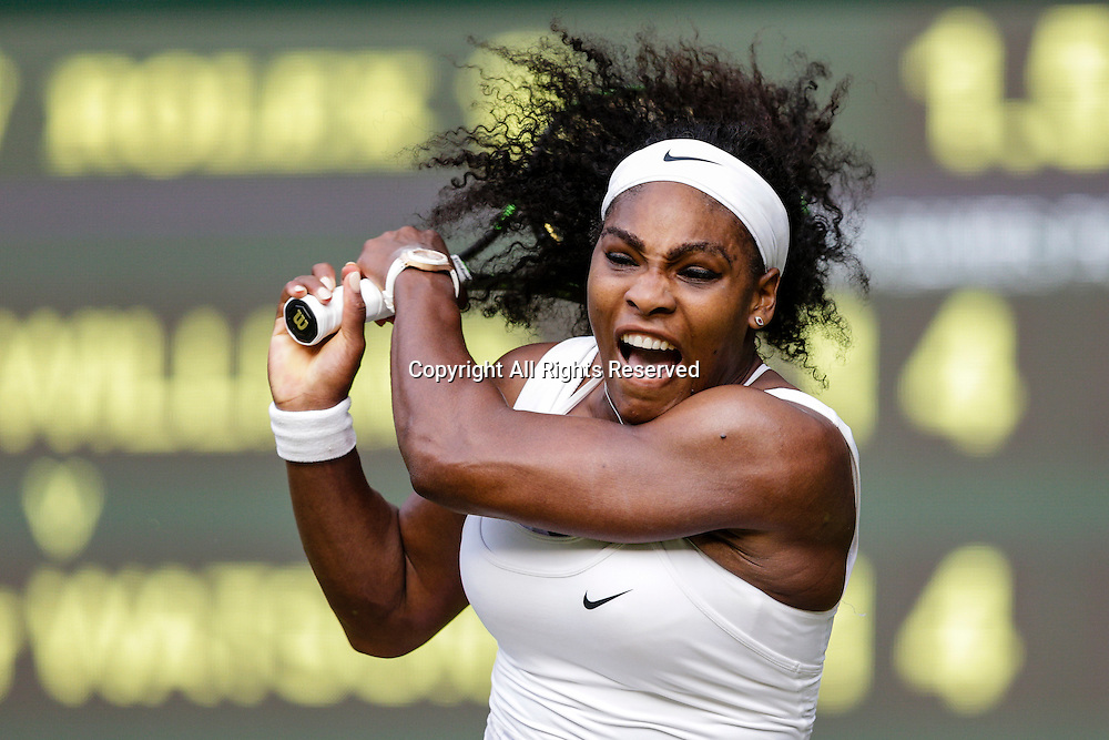 03.07.2015.  Wimbledon, England. The Wimbledon Tennis Championships. Ladies Singles third round match between top seed Serena Williams (USA) and Heather Watson (GBR).  Serena Williams in action