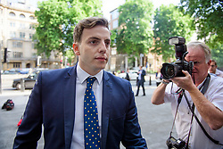 © Licensed to London News Pictures. 04/07/2017. London, UK. NATHAN GRAY arrives at Westminster Magistrates Court in London where he faces charges relating to the 2015 general election expenses of Conservative MP Craig Mackinlay. Craig Mackinlay, Nathan Gray and Marion Little have each been charged with offences under the Representation of the People Act 1983. Photo credit: Ben Cawthra/LNP