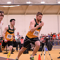 Preston Liebrecht in action during the 2018 Canada West Track & Field Championship on February  24 at James Daly Fieldhouse. Credit: Arthur Ward/Arthur Images