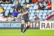 Harry Maguire of Leicester City (15)passes the ball during the Pre-Season Friendly match between Scunthorpe United and Leicester City at Glanford Park, Scunthorpe, England on 16 July 2019.