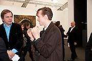JOHNNIE BORRELL, opening of the 2010 Frieze art fair. Regent's Park. London. 13 October 2010. -DO NOT ARCHIVE-© Copyright Photograph by Dafydd Jones. 248 Clapham Rd. London SW9 0PZ. Tel 0207 820 0771. www.dafjones.com.
