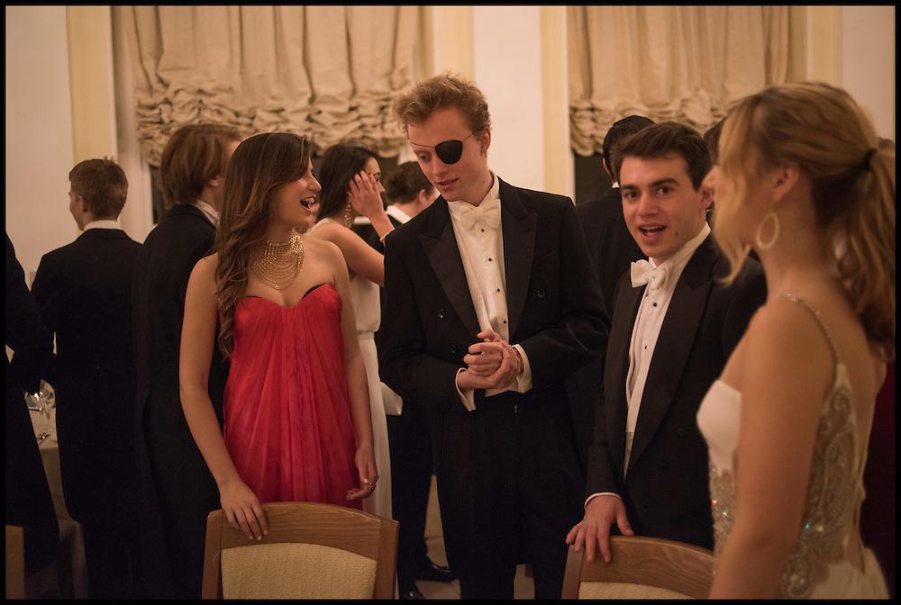SALLY CACTUS;  TOM HUMPHREY; DAN BENSON; ANDREA SISKO, Oxford University Polo club Ball, Blenheim Palace. Woodstock. 6 March 2015
