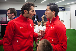 24.05.2012, Red Bull Arena, Salzburg, AUT, SLFC Summerleague, Tuerkei vs Georgien, im Bild Hamit Altintop, (TUR, #6) und Nuri Sahin, (TUR, #10) // Nuri Sahin, (TUR, #10) and Hamit Altintop, (TUR, #6) during friendly Football Match between the Nationateams of Turkey and Georgia at the Red Bull Arena, Salzburg, Austria on 2012/05/24. EXPA Pictures © 2012, PhotoCredit: EXPA/ Juergen Feichter