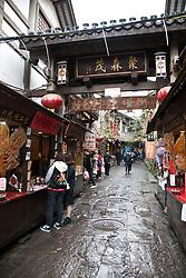 Street Scene, Ciqikou Old Town, <br /> Chongqing, China.