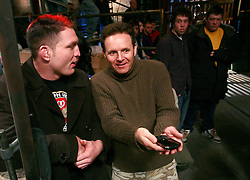 Producer Mark Burnett talks with Mayhem before filming.