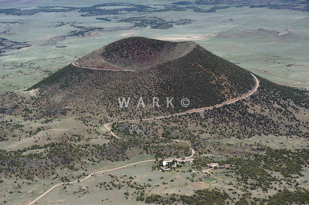 Capulin volcano national monument aerial view