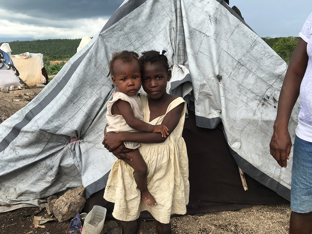 Haitian-decent deportees living in make shift camps Parq Cadeau on the Haiti border with Dominican Republic near town of Anse-à-Pitres in South East Haiti