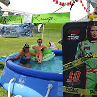 The Danica Patrick ladies lounge campground is seen in the camping area prior to the NASCAR Coke Zero 400 Sprint series auto race at the Daytona International Speedway on Saturday, July 6, 2013 in Daytona Beach, Florida.  (AP Photo/Alex Menendez)