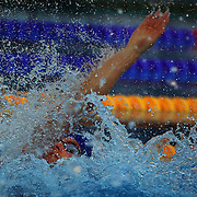 Liam Tancock, Great Britain, Breaks the World Record in the men's 50m Backstroke semi finals at the World Swimming Championships in Rome on Saturday, August 01, 2009. Photo Tim Clayton