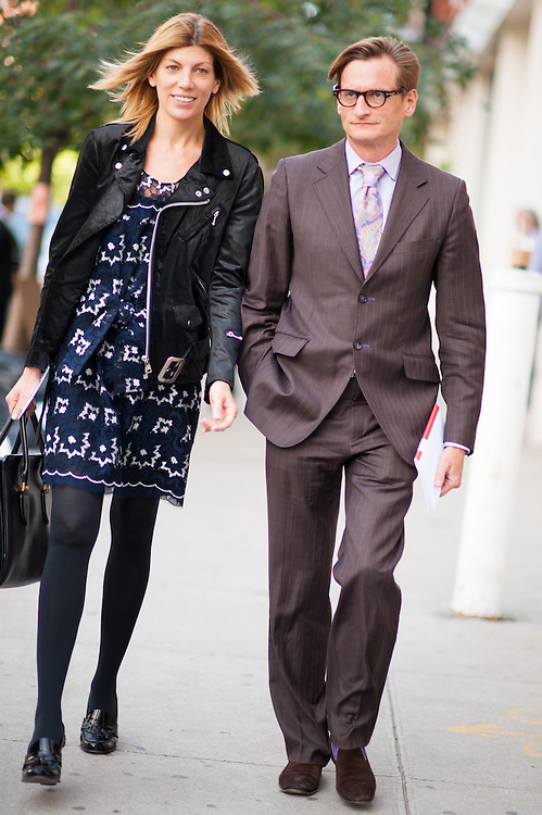 Virginia Smith and Hamish Bowles, Outside Rodarte