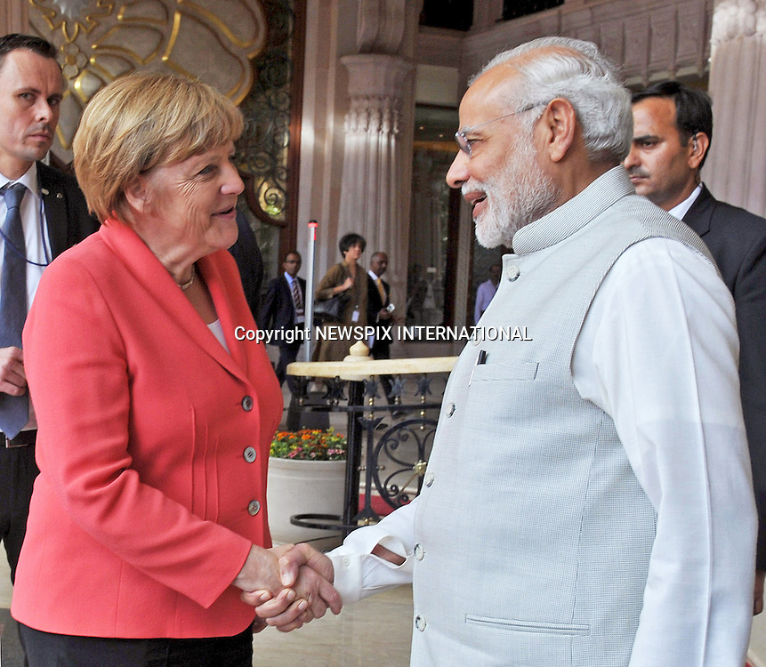 06.10.2015; Bangalore, India: GERMAN CHANCELLOR ANGELA MERKEL AND INDIAN PM MODI<br />
