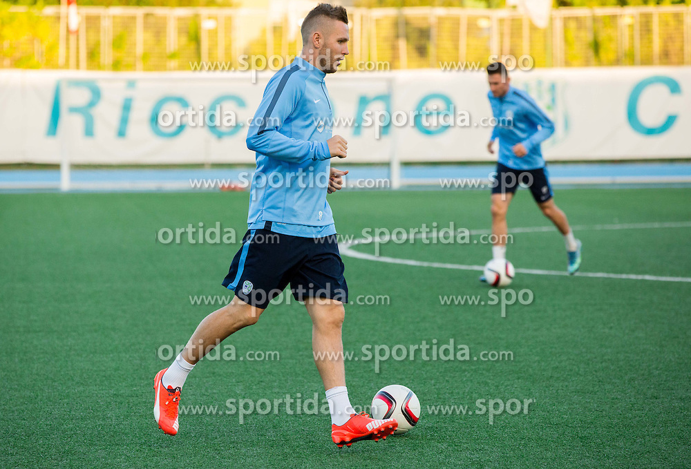 Jasmin Kurtic of Slovenia during the practice session of Team Slovenia 1 day before EURO 2016 Qualifier Group E match between Slovenia and San Marino, on October 11, 2015 in Riccione, Italy. Photo by Vid Ponikvar / Sportida