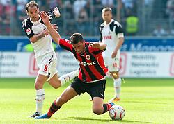 07.05.2011, Commerzbank-Arena, Frankfurt, GER, 1. FBL, Eintracht Frankfurt vs 1.FC Koeln, im Bild Petit (Koeln #8) und Martin Fenin (Frankfurt #17), EXPA Pictures © 2011, PhotoCredit: EXPA/ nph/  Roth       ****** out of GER / SWE / CRO  / BEL ******