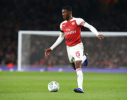 October 31, 2018 - London, England, United Kingdom - London, UK, 31 October, 2018.Ainsley Maitland-Niles of Arsenal.During Carabao Cup fourth Round between Arsenal and Blackpool at Emirates stadium , London, England on 31 Oct 2018. (Credit Image: © Action Foto Sport/NurPhoto via ZUMA Press)