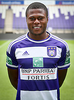 Anderlecht's Chancel Mbemba pictured during the 2015-2016 season photo shoot of Belgian first league soccer team RSC Anderlecht, Tuesday 14 July 2015 in Brussels.