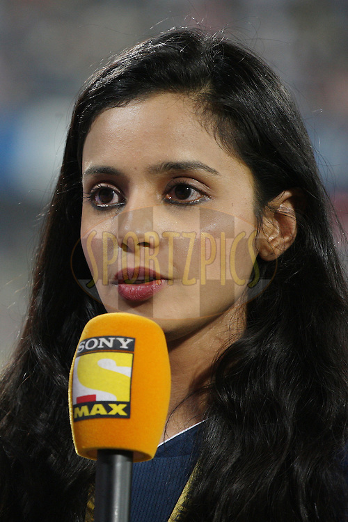 Co-owner of the Deccan Chargers Gayatri Reddy during match 68 of the the Indian Premier League ( IPL) 2012  between The Deccan Chargers and the Rajasthan Royals held at the Rajiv Gandhi Cricket Stadium, Hyderabad on the 18th May 2012..Photo by Jacques Rossouw/IPL/SPORTZPICS