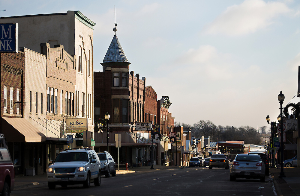 MONTICELLO, IA – JANUARY 6: A view down First Street in Monticello, Iowa on January 6, 2017.